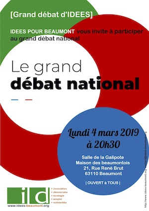 Affiche Grand Débat à Beaumont